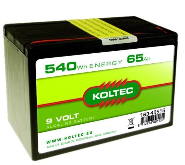 Batterie 9 Volt - 540 Wh 65 Ah