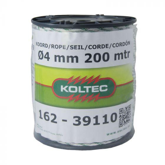 Seil, weiß/grün, 200m 4 mm