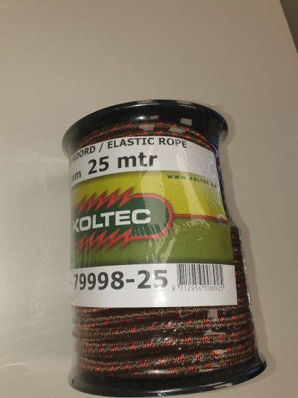 Seil, elastisch, braun/rot,